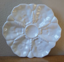 "9.75"" White Porcelain OYSTER PLATE by Royal Porzellan Manufaktur(R.P.M.)Germany"