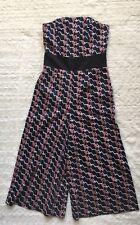 Asos Women's Strapless Crop Jumpsuit Geometric Print US0 Multi Color