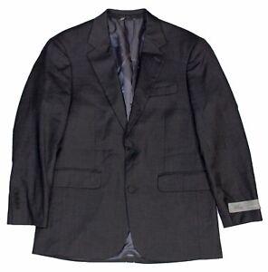 Louis Raphael Men's Double Button Tailored Classic Fit Blazer, Smoke, 36S