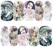 Nail Art Decals Transfers Stickers Ice Queens (A-1197)