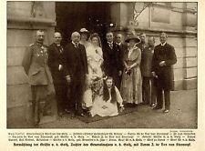Vermählung der Gräfin v.d.Goltz mit Baron J.de Vos van Steenwyk 1917