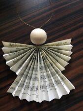 Weihnachtsdeko 10 Engel aus Gotteslob Christbaumschmuck Anhänger Gebetbuch Natur