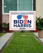 Sunglasses Biden 2020 Science Over Fiction Lawn Sign, Polotical Yard Sign 2020