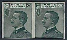 Varietà  ITALIA REGNO:  Sassone 185a coppia: Non dentellati  - Nuovi linguellati