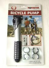 Roadster Bicycle/Bike Pump with Adapters