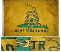 Vintage Gadsden 4' x 6' 4x6 ft embroidered Nylon Flag House Banner