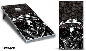 Cornhole Bean Toss Game Corn Hole Vinyl Wrap Decal Reaper 2-Pack