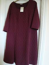 NEW W/TAG  Burgundy  ANTHOLOGY  Dress - Size 20 - FREE P&P