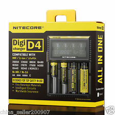 Nitecore LCD D4 Intelligent Circuitry Global Insurance 18650 battery Charger