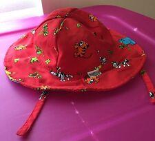 Wee Wave Red Cloth Baby Animals Boys Girls 6-18 months Sun Hat Chin Strap