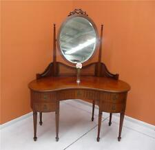ART DECO ~ kidney shaped DESK or Dressing Table, BEAUTIFUL:  resawreck-antiques