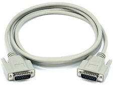 6ft DB15 Male to M Cable Beige DB 15 Cord 6' 6 feet