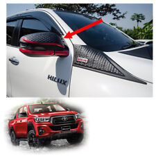Wing Side Mirror Cover Trim Red Matte Black For Toyota Hilux Revo Rocco 2018 19