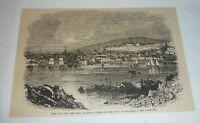 1880 magazine engraving ~ VIEW OF THE CITY OF HALIFAX, Nova Scotia