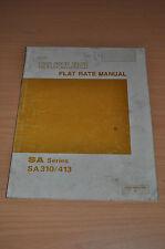 Werkstatthandbuch Suzuki Swift SA 310 413 Flat Rate Manual Englisch 1985 85