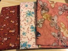 "3 pcs cotton fabric from America. 18.5x21"",18.5x22"", 18.5x22"". Pack 3."