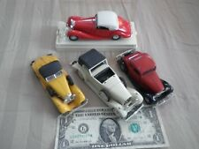 4 Lg. Vintage Classic Car Lot: Solido, Rio, Yatming & Zee (some missing parts)