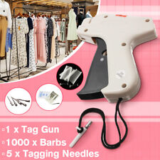 CLOTHING PRICE LABEL TAGGING TAG GUN WITH 1000 BARBS pins FASTENERS +5