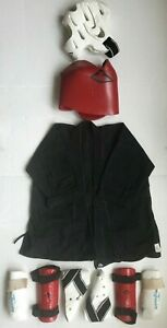 Century KARATE Martial Arts Women's Uniform Outfit Set Kit Sparring Gear + Bag