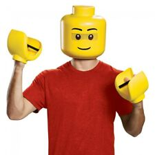 Lego Iconic Mask & Hands Adult Kit Yellow Costume Halloween Toy Prop Gloves Gift