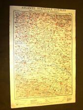 Carta geografica o mappa Brescia Parma Cremona Noceto Touring Club Italiano 1922