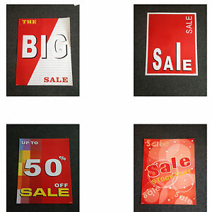 Extra Large Sale Sign KIT - 8 Pieces of Cardboard Signs 50% Stocktake 100x75cm