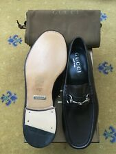 New Gucci Mens Shoes Brown Leather Horsebit Loafers UK 7 US 8 EU 41