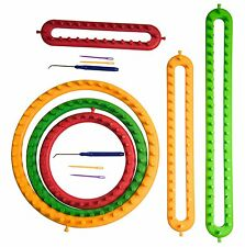 Plastic Knitting Loom Round+Long Loom Accessories For Baby Blankets Socks Hat