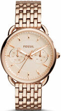 Women's Rose Gold Fossil Tailor Multi-Function Steel Watch ES3713