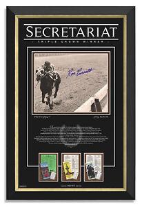 Secretariat Triple Crown Ron Turcotte Signed Archival Etched Glass™ Museum Frame