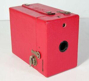 ca1926 KODAK RAINBOW HAWKEYE NO. 2 MODEL C BOX CAMERA BRIGHT RED FINE CONDITION