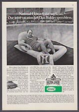 "1974 Don Rickles by Pool photo ""Left Speechless"" National Car Rental print ad"