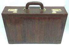Vintage Quality Amiet Executive Leather Briefcase Case Attache Combination Lock