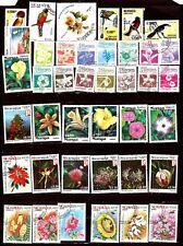 ZY412  NICARAGUA 40 Timbres, Fleurs et oiseaux