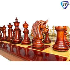 "Bud Rosewood Staunton Chess Pieces Set King 4.5"" ""Blackburne"" Joseph Henry"