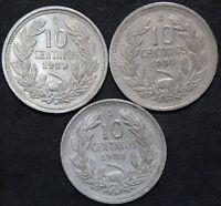 Chile 10 Centavos Coins | Cupro-Nickel | Bulk Coins | KM Coins