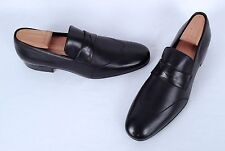 NEW!! Giorgio Armani Wingtip Loafer- Black Calf- Size 8 US/ 7 UK  $980  (C23)