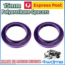 Pair Mitsubishi Pajero NM NP NS NT Rear 15mm Coil Spring Polyurethane Spacers