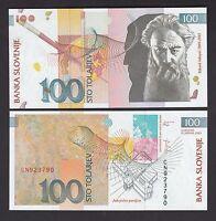 Slovenia 100 Tolarjev (2003) P31 Banknote Paper Money - UNC