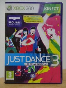 Just Dance 3...XBOX 360 Kinect Game...   FREE POST AU