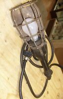 Vintage  PROTEX Industrial Cage Light with  Cord Shop  Lamp Steampunk - prop