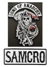 2  PATCHES - GRIM REAPER & SAMCRO - JACKET - VEST - HOODIE HAT - BIKER  ROADGEAR