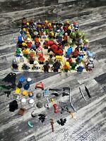 LEGO BULK LOT 70 MINIFIGURE  RANDOM Star Wars ,Batman Sponge Bob Marvel etc