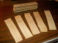 HO-O-or S scale  real rough cut lumber for flatcars/sawmills handcut 15ct.