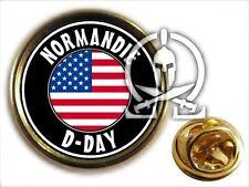 "Pin's "" NORMANDIE D DAY USA "" - WW2 JEEP DODGE M8 HALFTRACK PARA M1 US NORMANDY"