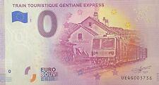 BILLET 0 EURO TRAIN TOURISTIQUE GENTIANE EXPRESS 2020 NUMERO SUITE 3738