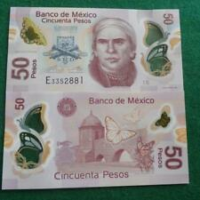 2015 MEXICO 50 PESOS  POLYMER MONARCH BUTTERFLIES P-123 CRISP