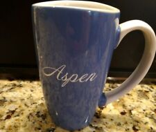 New listing Unique souvenir heavy ceramic mug Aspen I pretty periwinkle