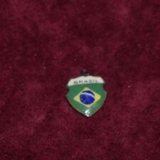 Ciondolo in argento smalti 800 Brasil VINTAGE 800 SILVER ENAMEL V3 ^