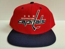 Washington Capitals Cap Flat Brim Reebok Team Color Snapback Hat NHL